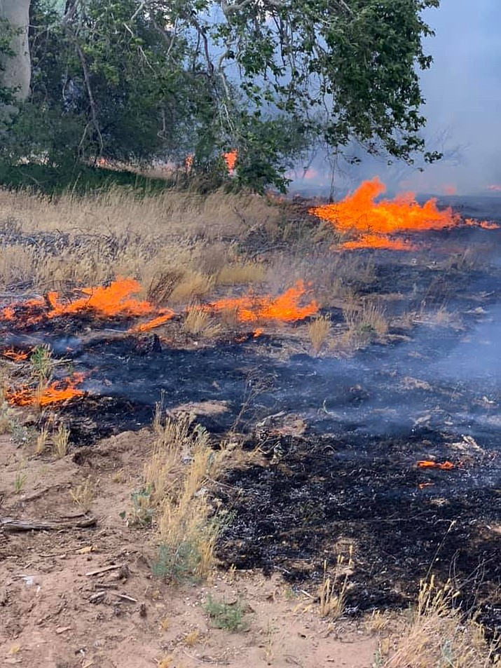 A fire in Verde Lakes on Saturday afternoon was contained by the Copper Canyon Fire & Medical Authority. Copper Canyon Fire photo