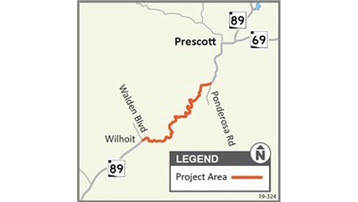 Highway 89 will experience alternating lane closures from 6 a.m. to 7 p.m. Monday, June 8, through Wednesday, June 24, 2020. (ADOT)