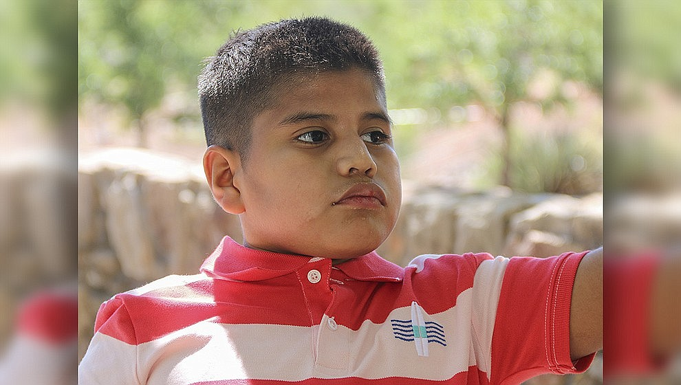 These are AZ's children: Carlos loves to be outside and likes to splash in the pool. He also enjoys helping with chores around the house – especially if there is a vacuum involved. Get to know Carlos at https://www.childrensheartgallery.org/profile/carlos-0 and other adoptable children at the childrensheartgallery.org.