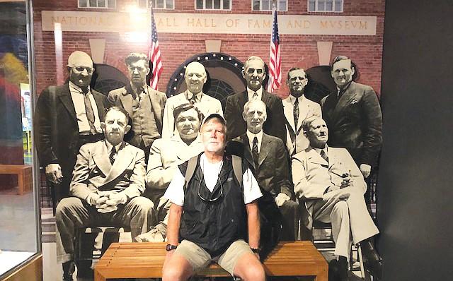 Gary Yeatts at National Baseball Hall of Fame. Courtesy photos