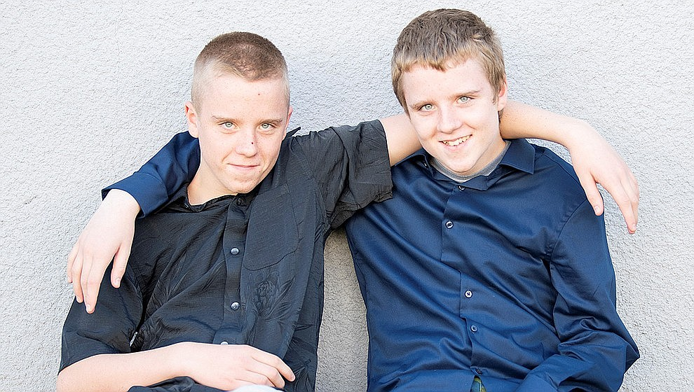 These are AZ's children: Jason and Brian are identical twins, but Jason likes to point out he is older by two minutes. They are both bright, inquisitive boys who like to joke and laugh. One's a little more country and the other's a little more rock 'n' roll! Get to know Jason and Brian at https://www.childrensheartgallery.org/profile/jason-brian and other adoptable children at the childrensheartgallery.org.