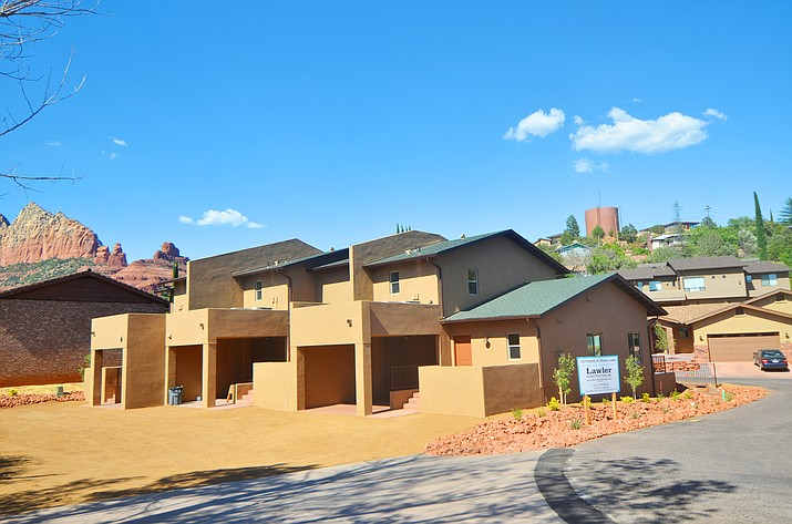 The triplex built by Habitat for Humanity on Peach Lane in Sedona was dedicated Saturday. VVN/Vyto Starinskas