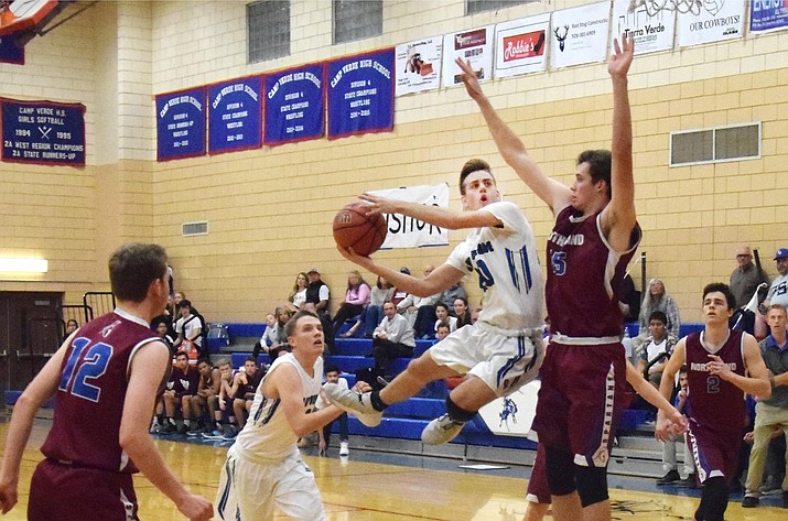 Camp Verde High School senior guard Jason Collier averaged 26 points, four rebounds and three assists per game for the 2019-2020 Camp Verde boys varsity basketball team. Collier was named the school's male athlete of the year for 2020. VVN/File Photo