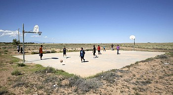 As Native Americans fight virus, basketball takes a timeout photo