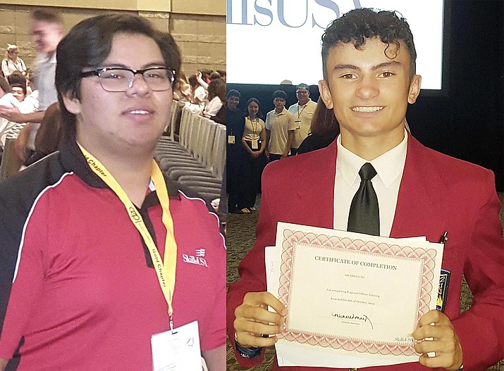 Valley Academy construction students Ramiro Alvarez-Araiza, left, and Francisco Bekele will compete June 22-24 for top SkillsUSA honors during the Models of Excellence interviews via Zoom. Photos courtesy Valley Academy of Career and Technology Education
