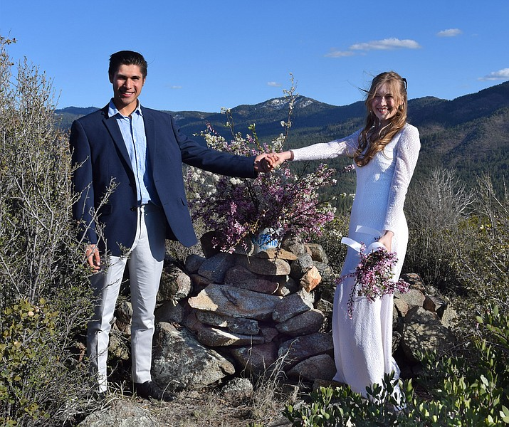 Glory Glidden and Isaac Arellano were married on April 3, 2020. (Courtesy)