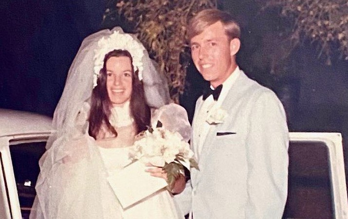 John and Shannon Skurja are celebrating their 50th wedding anniversary, pictured June 6, 1970. (Courtesy)