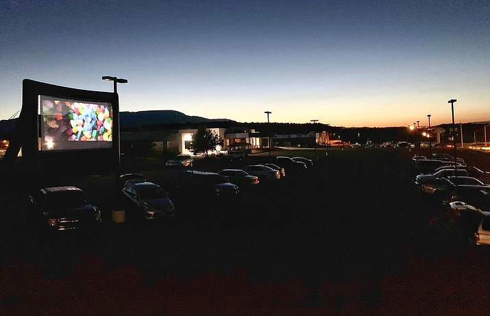 Verde Drive-In now has a 32-foot screen, after opening in May with a 25-foot screen. Said proprietor Dave Meyers, the movie theater off State Route 260 at Coury Drive is showing movies to as many segments of the community as possible. Photo courtesy Penny Lane Photography/Kristy Meyers