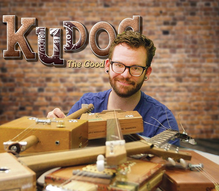During the COVID-19 pandemic, Zack Garcia, teen librarian at the Camp Verde Community Library, debuted a YouTube video that shows how to make a guitar from a cigar box.