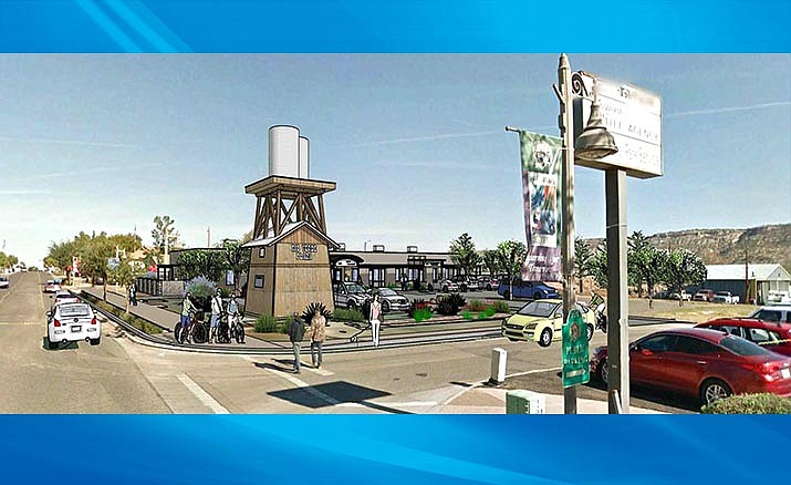 An artist's rendition of a renovated Rio Verde Plaza. Tierra Verde Builders is working to complete the project by November for Yavapai Title, who will use the building as a branch office and training center. Courtesy Tierra Verde Builders