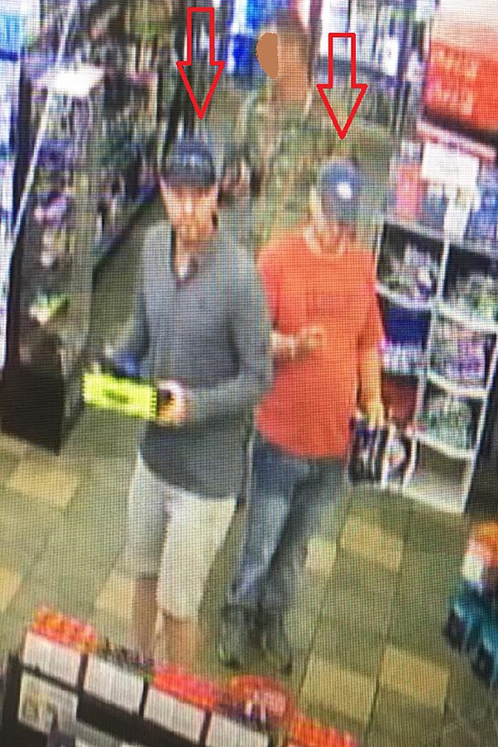 Two boys or young men were spotted on a security camera, allegedly using a stolen credit card at the Pilot / Chevron gas station and store in Cordes Junction. Police say the pair are accused of breaking into vehicles Tuesday at the Beaver Creek overflow parking area in Rimrock, taking items and causing damage totaling about $5,000 in loss. If you have any information on these thefts or suspects, you may provide a tip anonymously to Yavapai Silent Witness at 1800-932-3232. Courtesy of YCSO