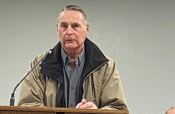 Bruce George is asking for $150,000 in damages from the Town of Camp Verde, as well as an apology and censure of council members Joe Butner and Bill LeBeau. VVN/Bill Helm