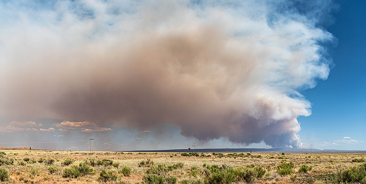 Coconino County Sheriff's Office and U.S. Forest Service personnel have begun evacuating the Jacob Lake area on the North Rim of Grand Canyon after the Magnum Fire increased to more than 2,000 acres June 12. (Photo/Kaibab National Forest)