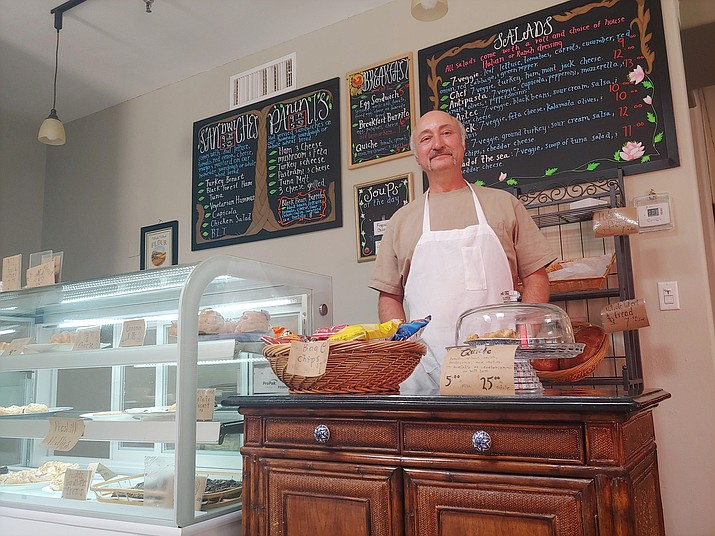 Olde World Bakery baker/operator Daniel Pacheco says his business — on the backside of the Old Firehouse Plaza, 222 W. Goodwin St., Suite 1, is open. (Doug Cook/Courier, file)