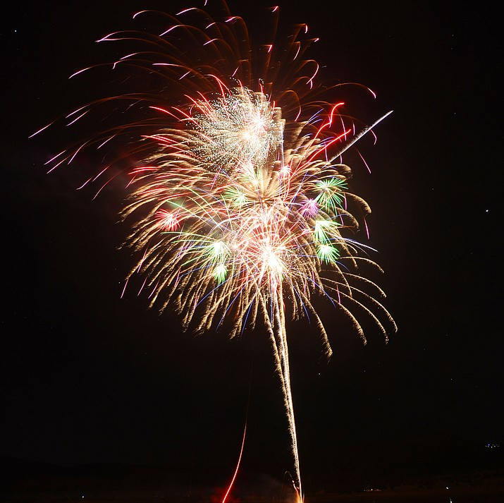 Fireworks explode at the City of Prescott's 2019 Watson Lake Fourth of July Celebration. The 2020 event will again be held at Watson Lake. (Les Stukenberg/Courier, file)
