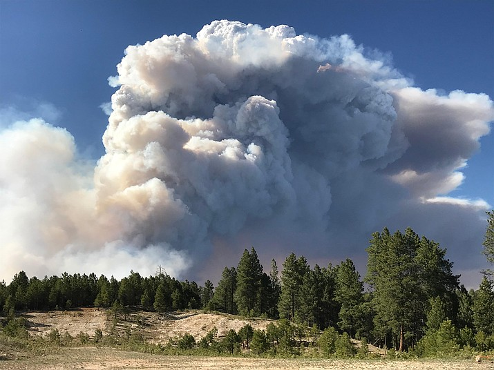The Mangum Fire is rapidly spreading on the North Rim of the Grand Canyon because of extreme fire weather. The fire is now at 14,800 acres and has prompted evacuations of the North Rim Village, Jacob Lake and Highways 67 and 89A. (Photo/USFS)