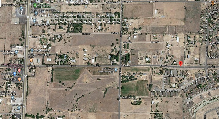 The Chino Valley Town Council authorized $125,000 toward the construction costs for improvements along Road 1 North on Tuesday, June 9, 2020. (Google Maps Screenshot)