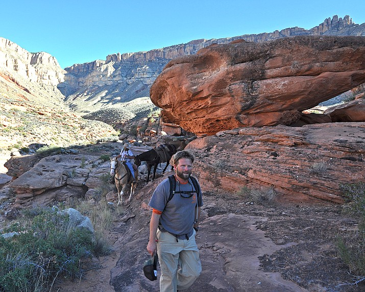 People explore the Kanab Creek Wilderness trail October 2012. (Photo/Kaibab National Forest)