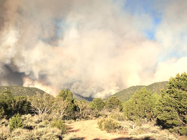 Smoke produced from the Mangum Fire on the North Kaibab Plateau June 12. As of June 16 the fire had grown to 29,689 acres. (Photo/U.S. Forest Service, Kaibab National Forest)