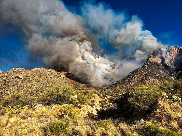 On June 5a lightning strike started the Bighorn Fire in the Catalina Mountains northwest of Tucson, Arizona on the Coronado National Forest. (Photo/Inciweb)