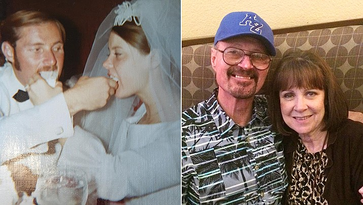 Monte and Ann Pearson celebrated their 50th wedding anniversary on Saturday, June 20, pictured then and now. (Courtesy)