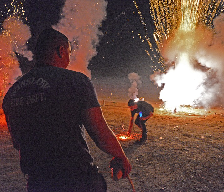 Winslow will again host a fireworks show for residents and visitors July 4. (Todd/Roth)