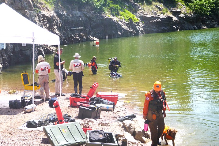 On June 22, Coconino County Sheriff's Office, Gila County Sheriff's Office Dive Team and Tonto Rim Search and Rescue conducted an underwater search for Austin Smith, 32, of Payson, Arizona, at Blue Ridge Reservoir. Smith's body was recovered later that morning. (Photo/Coconino County Sheriff's Office)