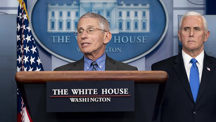 Dr. Anthony Fauci, left, infectious disease chief at the National Institutes of Health, testified before a U.S. House committee on Tuesday, June 23, and said the next few weeks will be critical in the nation's fight against the coronavirus. (Official White House photo/Public domain)