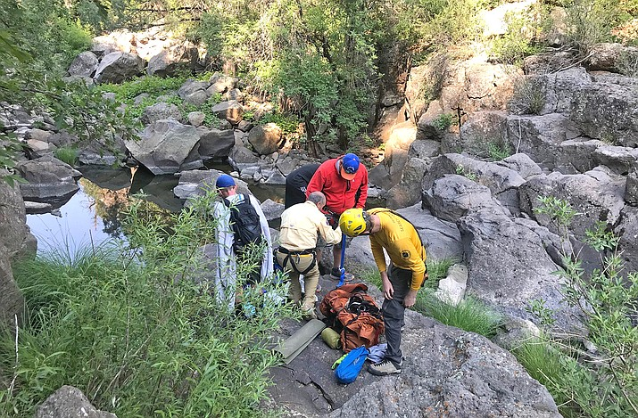 Coconino County Sheriff's Office Search and Rescue Unit personnel responded to locate and assist missing hikers June 19 in Munds Canyon. (Photo/Coconino County Sheriff's Office)