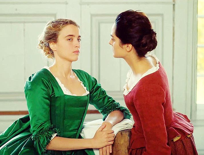 "Adèle Haenel and Noémie Merlant star in ""Portrait of a Lady on Fire,"" which is now available through streaming services."