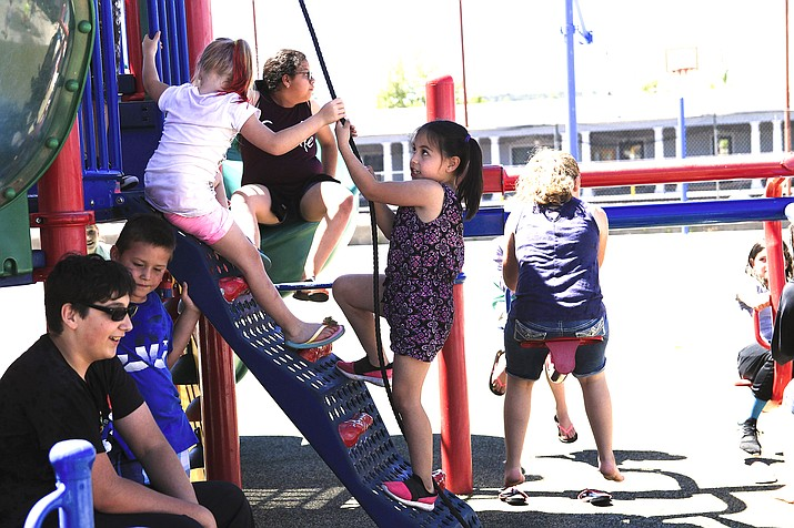 Children enjoy the playground at Summer Rec in 2019. (Loretta Yerian/WGCN)