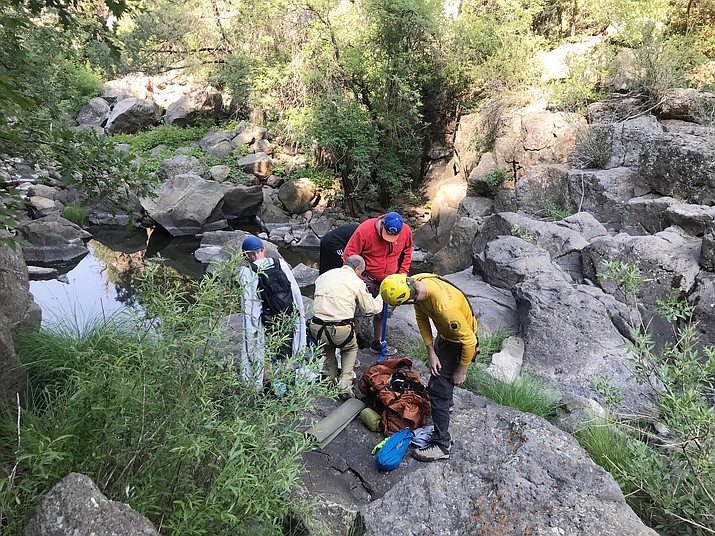 At about 7:45 a.m. Saturday, June 20, Coconino County Sheriff's Office's Search and Rescue Unit rescued an adult male and three juveniles who were reported missing at 7:20 p.m. Friday, June 19. Courtesy Coconino County Sheriff's Office