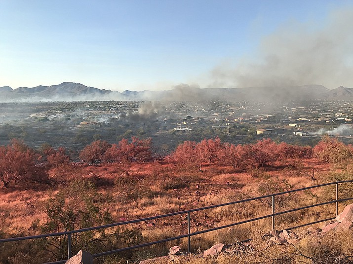 The Aquila Fire burned through a north Phoenix suburb Jun 23. (Photo/Arizona Dept. of Forestry)