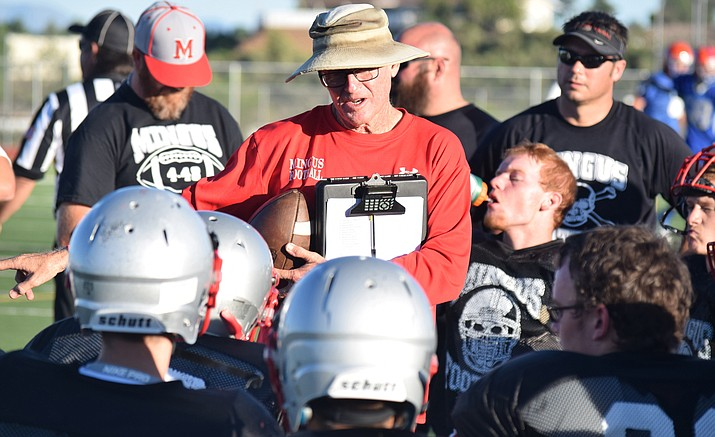 Former Mingus Union football coach Bob Young will coach defense under head coach Rick Walsworth at Camp Verde High School in 2020. VVN file photo