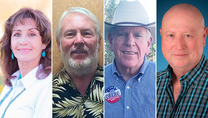 From left, Sherrie Hanna, David McNabb, Harry Oberg, and John Lutes. (Courtesy photos)