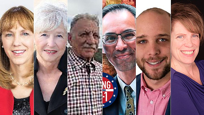 From left, Selina Bliss, Judy Burges, Ed Cocchiola, Quang Nguyen, Steven Sensmeier, and Judy Stahl. (Courtesy photos)