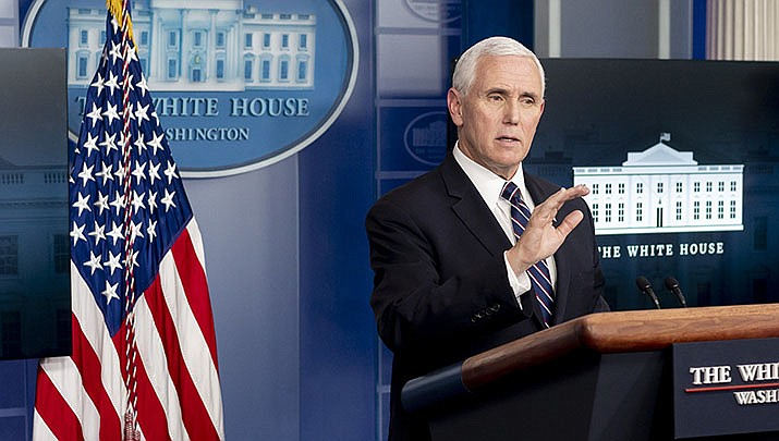 U.S. Vice President Mike Pence has canceled a campaign trip to Arizona due to a spike of coronavirus cases in the state. He also canceled a visit to Florida, which is also experiencing a surge. (Official White House photo/Public domain)
