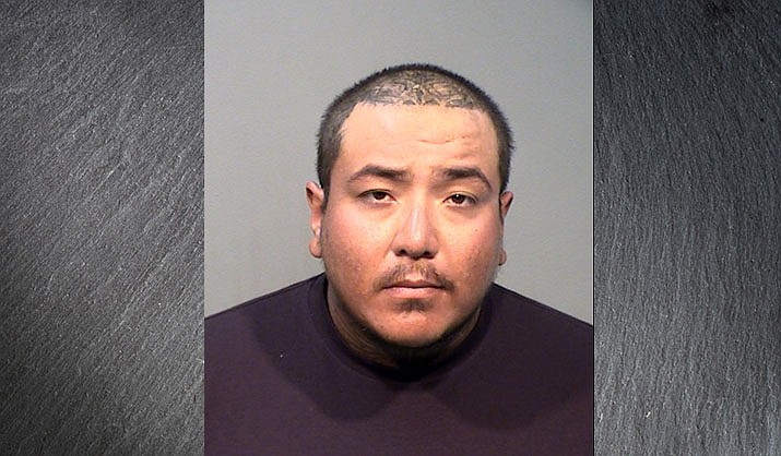 Angel Mora, 26, of Prescott Valley, was arrested Saturday, June 27, 2020, for attempted homicide, drug possession and aggravated assault with a weapon. He was transported to the Yavapai County jail in Camp Verde and booked. (PVPD/Courtesy)