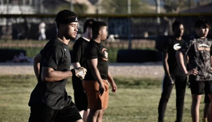 Desert Edge cornerback Steven Ortiz Jr. never set foot on Minnesota's campus before committing. He had conversations with the coaching staff via Zoom and social media messaging. (Photo courtesy of Steven Ortiz Jr.)
