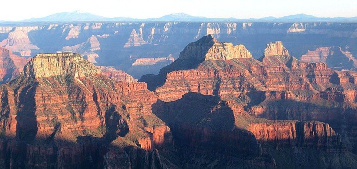 The North Rim of Grand Canyon National Park from Bright Angel Point. (Mike Quinn/NPS)