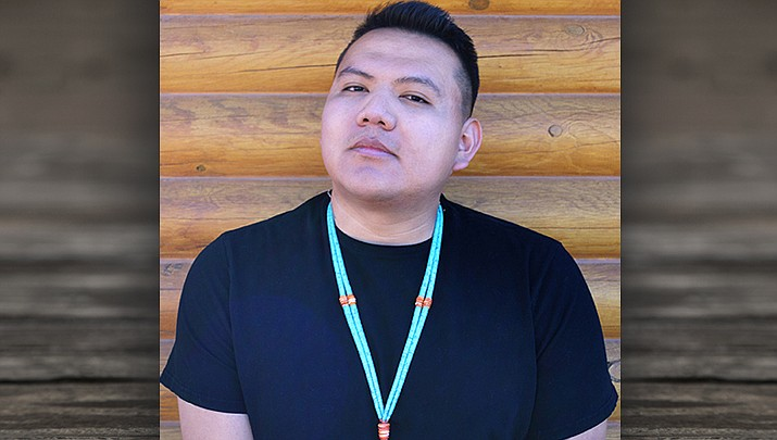 Jake Skeets of Vanderwgen, New Mexio was named Faculty of the Year by the American Indian College Fund.  (Photo/Dine College)