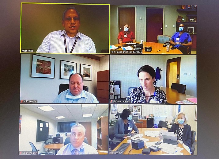 Northern Arizona Healthcare's leadership team talks about the surge in COVID-19 positives. VVN/Bill Helm