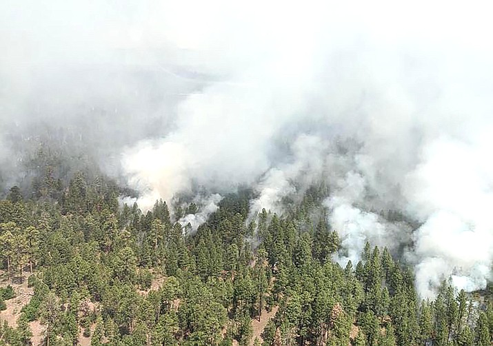 The Wood Springs Two Fire, which started on June 27, is now 6,800 acres and 0 percent contained. (Photo/BIA Wildland Fire Management, Navajo Region)