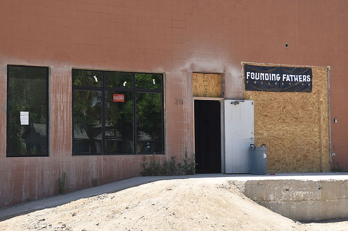 Founding Fathers Collective, 218 N. Granite St., Prescott, is undergoing renovations. (Jesse Bertel/Courier)