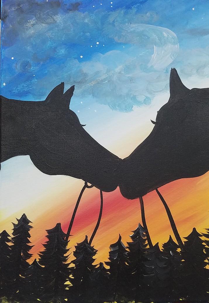 Horses - acrylic on canvas at 3 Kings & Epiphany.