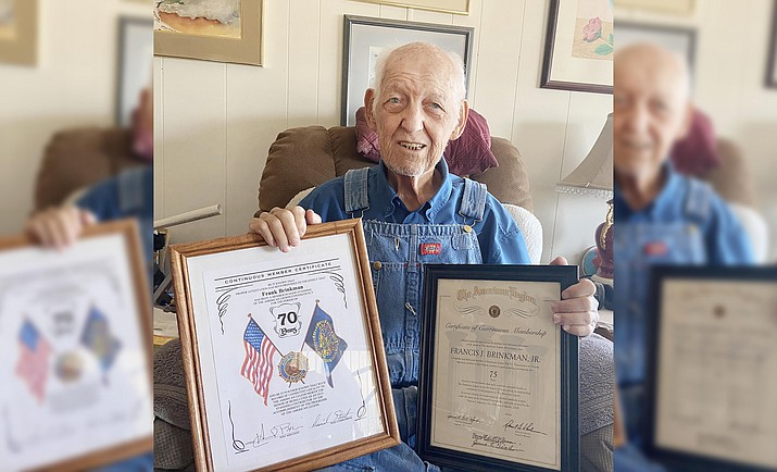 Frank Brinkman, a World War II and Korean War veteran, who will be 94 this month, will have a new shower built at his Camp Verde home thanks to a partnership between Vets4Hire and Verde Valley Habitat for Humanity's Critical Home Repair Program. VVN/Bill Helm