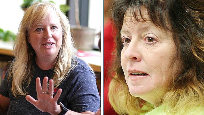 Clarkdale-Jerome's Jill Zaske, left, and Beaver Creek's Jackie Harshman did not turn in paperwork by the 5 p.m. Monday petition-signature deadline for this November's election. VVN/File photos