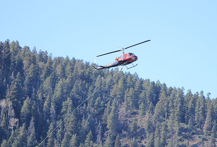 Helicopter logging is set to resume this fall on a steep slope area of Bill Williams Mountain. (Loretta Yerian/WGCN)