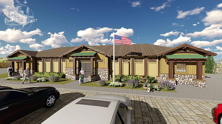 Open areas around the proposed Pronghorn Ranch pool and clubhouse fitness center may also feature a pickleball court, barbecue area, children's play area, and a splash pad, among other amenities. (Town of Prescott Valley)
