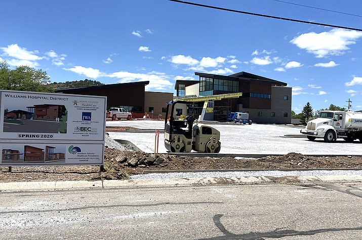 Williams Clinic parking lot gets closer to completion. (Wendy Howell/WGCN)
